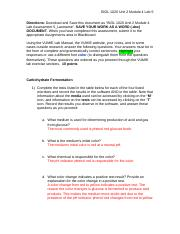 BIOL 1020 Unit 2 Module 4 Lab 5 Assessmentdocx