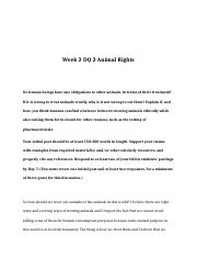 rev Week 2 DQ 2 - Animal Rights.doc