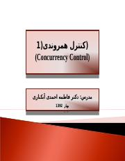 8-Concurrency Control-1