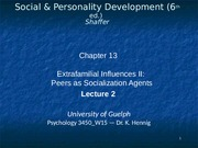PSYC 3450 Week 12 Lecture March 31