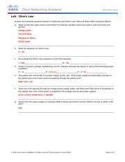1 1 1 4 Worksheet - Ohms Law - IT Essentials 5 0 1 1 1 4