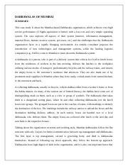 mumbai dabbawala case study summary