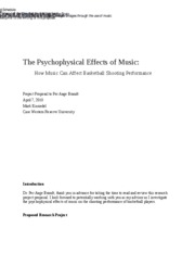 The Psychophysical Effects of Music