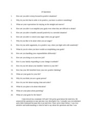20 Questions for CHD102 Class