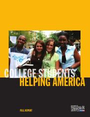 College Students Helping America CNCS