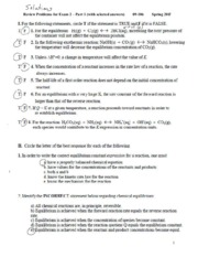 Solutions Rev Prob Exam 2 - Part 1 09-106 S 11