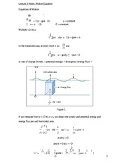 Lecture 3 Notes Motion Equation