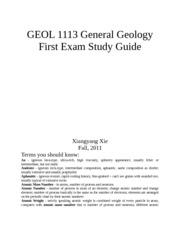 geology 101 oceans study guide Study guide for final exam: geology introduction (chapter 1) 1) geologic time 2) basic tectonics 3) earth systems earth's interior and.