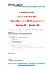 1Z0-808 Exam Dumps with PDF and VCE Download (41-60).pdf