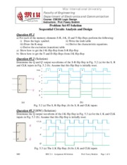 CSE255 Logic Problem Set #5 Solution Sequential Circuits