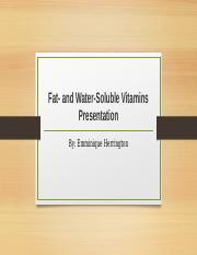 fat and water soluble presentation