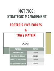 MGT 7033 PPt Porter 5 forces latest