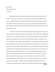 Topic Debate Paper - Sarah Seiden - Global Perspectives