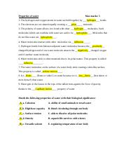 Properties of water worksheet - Nina Vosko - Properties of water Max ...
