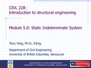 CIVL 228 Module (5.0)  - Indeterminent Structure (Updated on 20150326)