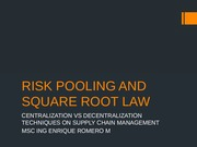 RISK POOLING AND SQUARE ROOT LAW