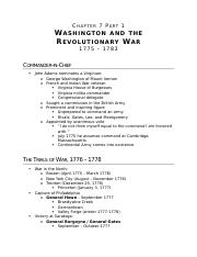 (Ch 7 Pt 1)Washington and the Revolutionary War