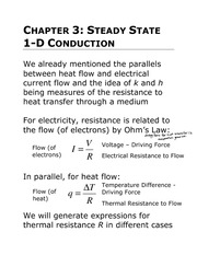 Lecture 3: 1D Conduction