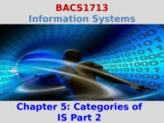Chapter 5 Categories of IS 2