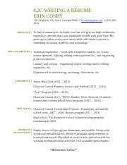8.2c Assignment Writing a Resume.docx