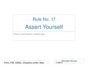Rule 17 Assert Yourself