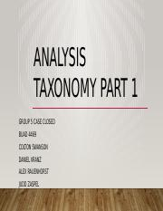 Analysis Taxonomy Part 1.pptx