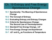 5.1 Chapter 19 Entropy and Free Energy (1 per page)