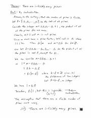 Infinitely Many Primes Proof