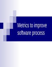 In process ouality metrics