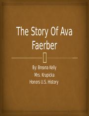 The Story Of Ava Faerber immigration storyboard