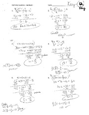 Handout 4 - Multistep Equations (ToC page 12) - Key