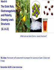 03-06-20 Octet Rule, Electronegitivity and Polarity, Lewis Structures.pdf