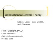 Network Theory (part 1) Diameter