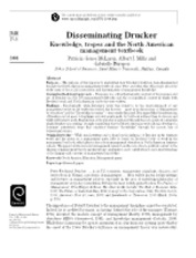 Disseminating  Drucker