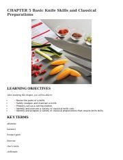 CHAPTER 5 Basic Knife Skills and Classical Preparations