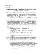 graphung linear functions