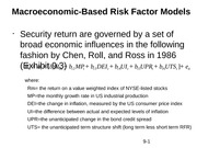 Macroeconomic-Based Risk Factor Models