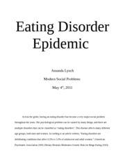 Eating disorders essay