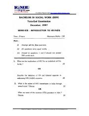 (www.entrance-exam.net)-IGNOU Bachelor in Social Work Introduction to HIV Aids Sample Paper 1