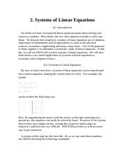 2 systems of Linear Equations
