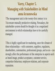 Managing with Stakeholders in Mind