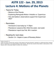 4 motions of the planets