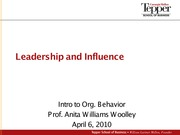 2010-04-08 Leadership and Influence