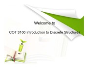 COT 3100 Introduction to Discrete Structure  USF - Complete lecture slides