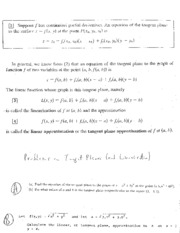 14.4 Tangent Planes and Linearization
