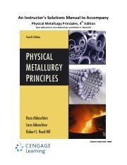 Physical Metallurgy Principles Pdf