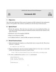 Homework C on Research Tools & Techniques in Computer Engineering