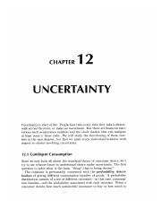 12 Uncertainty