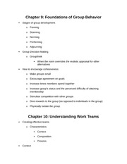 Group Behavior and Work Teams