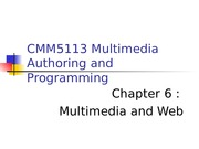 Chapter 6- Multimedia and Web